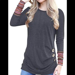 Ivvic size xl dark grey with tribal sleeves